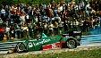 Formel 1 1984, Frankreich GP, Dijon, Eddie Cheever, Alfa Romeo, Bild: Sutton