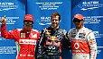 Lewis Hamilton sieht Fernando Alonso leicht besser als Sebastian Vettel - Foto: Sutton