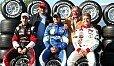 Vater & Sohn: Keke und Nico Rosberg, Niki und Mathias Lauda und Nelsinho Piquet - Foto: Sutton