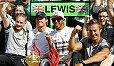 Lewis Hamilton gewinnt in Großbritannien - Foto: Sutton