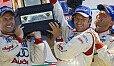 Tom Kristensen, Marco Werner und JJ Lehto gewannen 2005 im unterlegenen Audi R8 - Foto: Audi