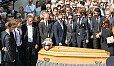 Bei der Trauerfeier für Jules Bianchi nahmen die Kollegen Abschied - Foto: Sutton
