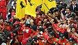 Sebastian Vettel fuhr in Monaco zum ersten Ferrair-Sieg seit 2001 - Foto: Sutton