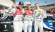 Rast, Ekström und Martin auf dem Siegertreppchen - Foto: DTM