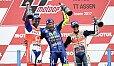Valentino Rossi durfte sich als Sieger feiern lassen - Foto: Yamaha