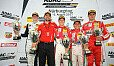 Neben Marcus Armstrong jubelten Julian Hanses und Enzo Fittipaldi auf dem Podest - Foto: ADAC Formel 4