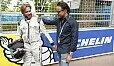 Felipe Massa war 2015 beim Saisonfinale der Formel E in London - hier mit Nick Heidfeld - Foto: LAT Images