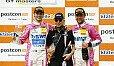 Sieger am Samstag: Jeffrey Schmidt, Peter Mücke und Stefan Mücke - Foto: ADAC GT Masters