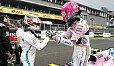 Sensationelle Performance von Force India im Qualifying - da gratulieren auch die Champions - Foto: Sutton