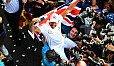 Lewis Hamilton feiert im Stadion von Mexiko auch seinen fünften WM-Titel - Foto: Sutton