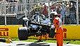 Kevin Magnussen zerlegte in Kanada im Qualifying seinen Haas - Foto: LAT Images