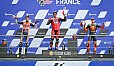 Petrucci vor Alex Marquez und Pol Espargaro - was für ein Podium in Le Mans! - Foto: MotoGP.com
