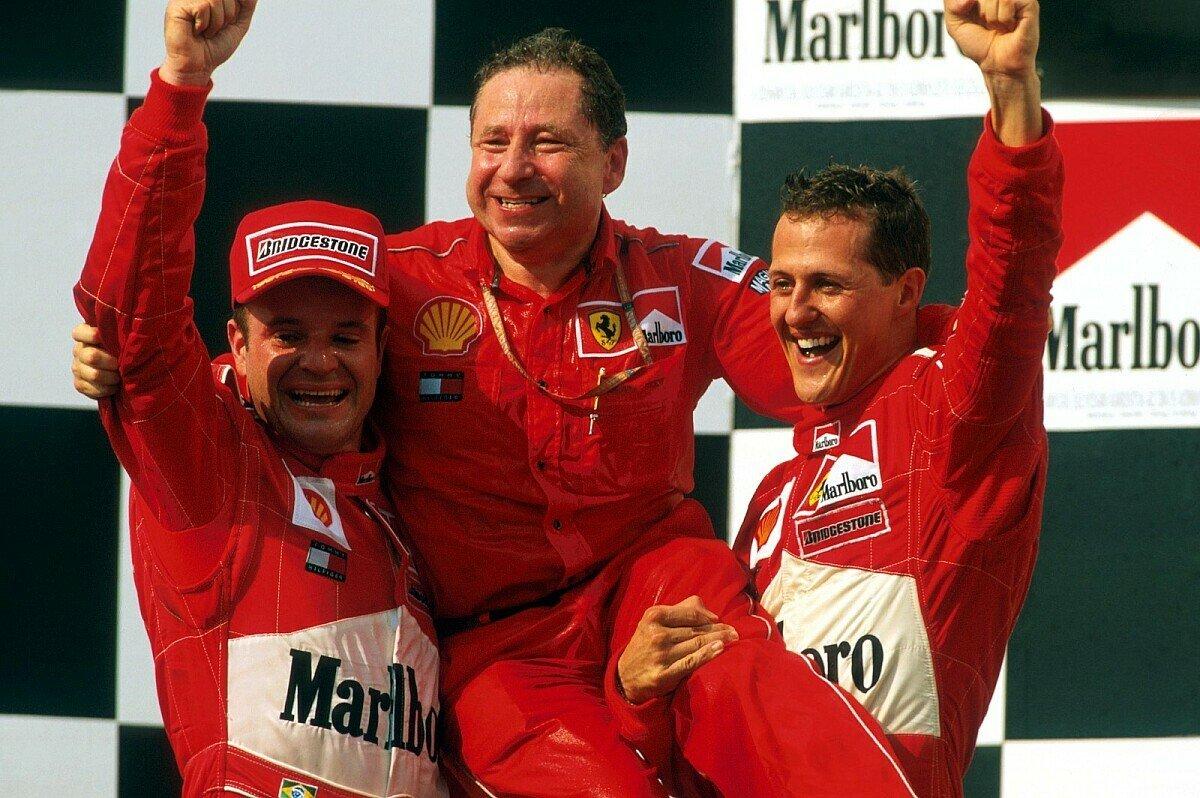 Michael Schumacher und Rubens Barrichello sorgten unter Führung von Jean Todt für die glorreichsten Jahre von Ferrari, Foto: Sutton