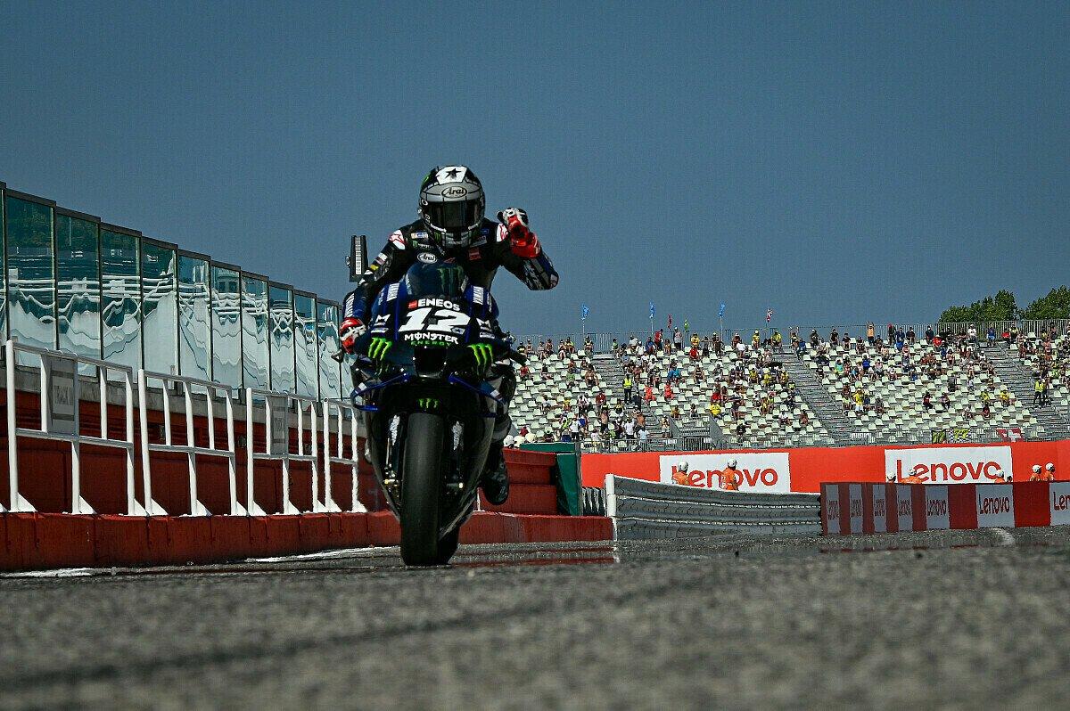 Maverick Vinales durfte über die Pole Position jubeln, Foto: MotoGP.com