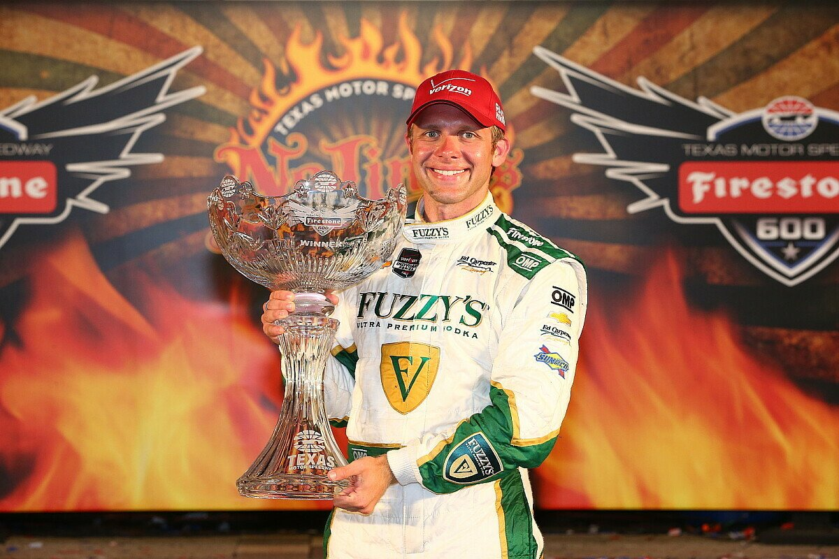Ed Carpenter freute sich über den Sieg in Texas, Foto: IndyCar