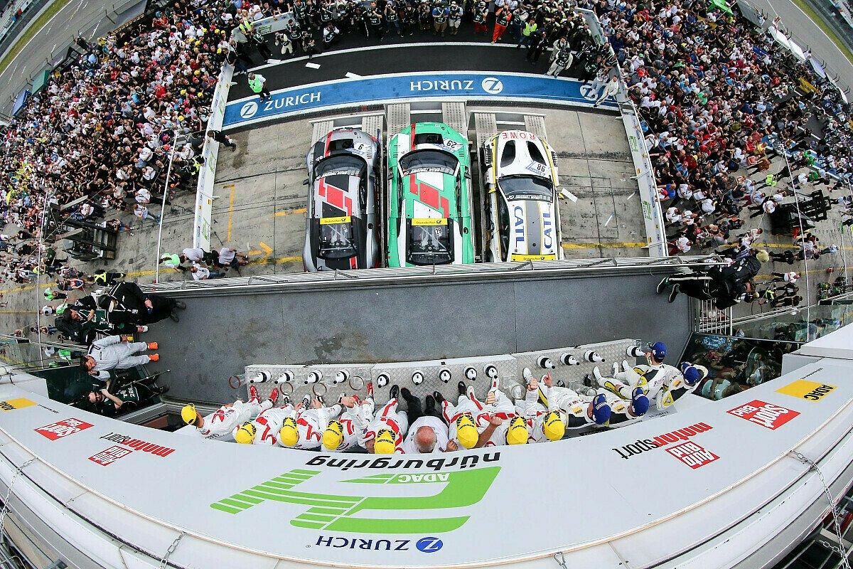 Nicht nur auf dem Podium wird das 24-Stunden-Rennen auf dem Nürburgring gefeiert, Foto: 24h Media