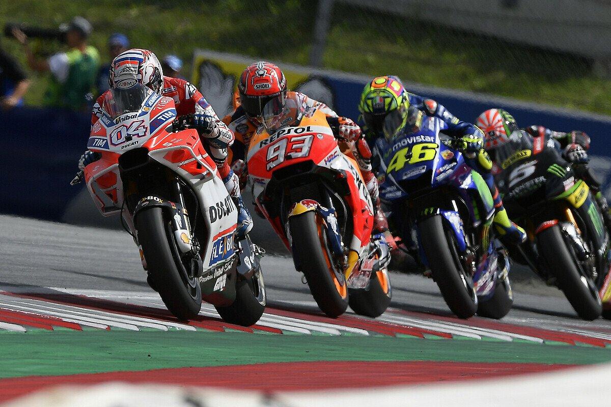 Nur im ersten Renndrittel war Yamaha mit Honda und Ducati auf Augenhöhe, Foto: Ducati
