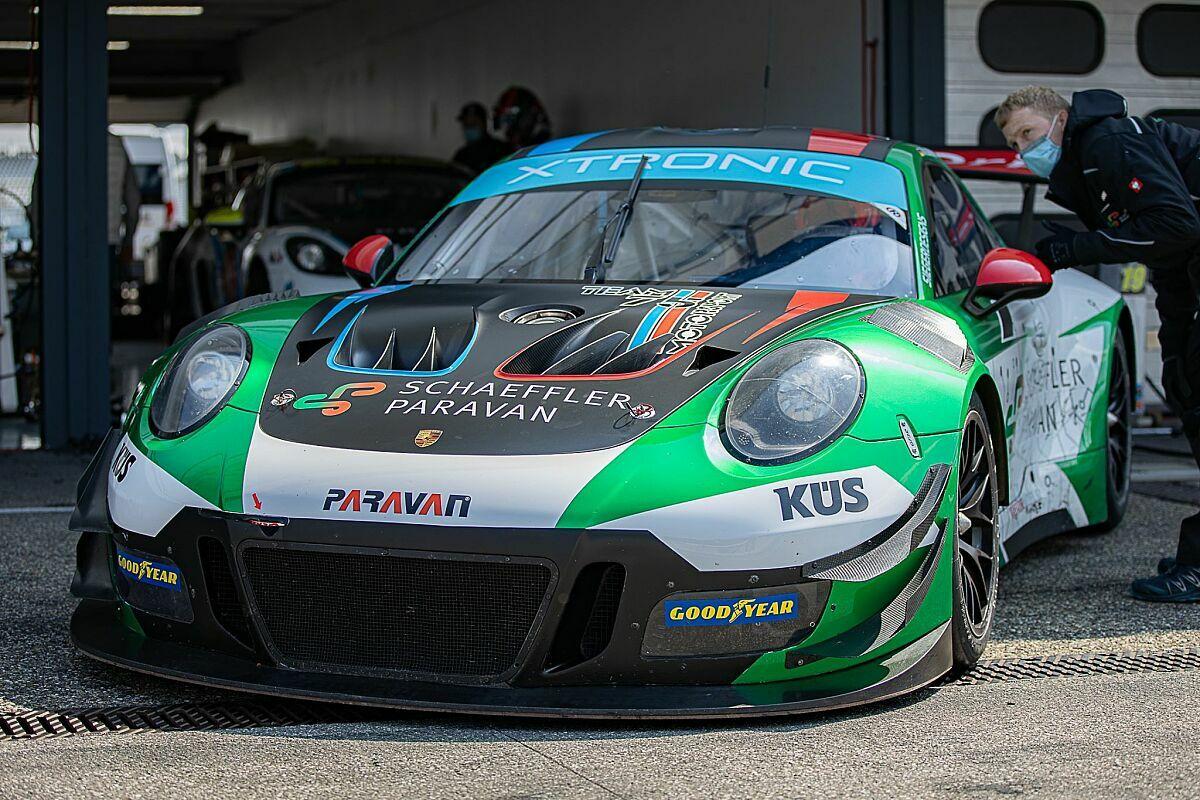Dieser Porsche 911 GT3 R fährt ohne mechanische Lenksäule, Foto: GTC Race