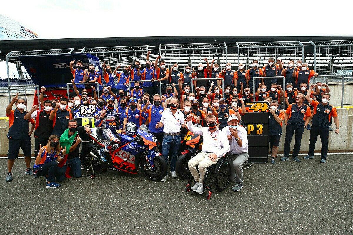KTM brachte im Steiermark-GP erstmals zwei Fahrer auf das MotoGP-Podium, Foto: LAT Images