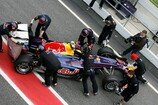 Formel 1 2010, Barcelona, 25.-28. Februar, Barcelona, Test, Webber, Teampersonal, Red Bull, Bild: Sutton