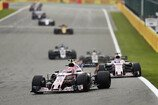Formel 1 2017, Belgien GP, Sonntag, Ocon, Perez, Force India, Bild: Sutton