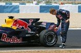 Formel 1 2008, Jerez, 16.-19. September, Jerez, Tests, Testfahrten, Red Bull, Vettel, Ausfall, Defekt, Bild: Sutton
