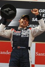 Formel 1 2012, Spanien GP, Sonntag, Podium, Maldonado, Portrait, Williams, Bild: Sutton