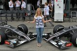 Formel 1 2014, Australien GP, Samstag, FUNDSACHEN, T-Shirt, VIPs, Girls, Jennifer Becks, Portrait, Bild: Sutton