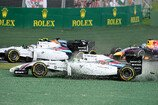 Formel 1 2014, Australien GP, Sonntag, Unfall, Massa, Williams, Bottas, Vettel, Red Bull, Bild: Sutton