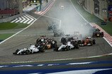 Formel 1 2014, Bahrain GP, Sonntag, Start, Massa, Bottas, Williams, Bild: Sutton