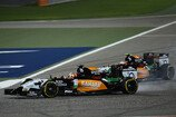 Formel 1 2014, Bahrain GP, Sonntag, Hülkenberg, Perez, Force India, Bild: Sutton