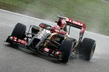 Formel 1 2014, China GP, Samstag, Grosjean, Lotus, Bild: Sutton