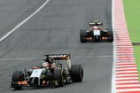 Formel 1 2014, Spanien GP, Sonntag, Hülkenberg, Perez, Force India, Bild: Sutton