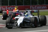 Formel 1 2014, Kanada GP, Sonntag, Massa, Ricciardo, Williams, Red Bull, Bild: Sutton