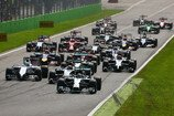 Formel 1 2014, Italien GP, Sonntag, Start, Rosberg, Magnussen, Massa, Hamilton, Vettel, Mercedes, McLaren, Williams, Red Bull, Bild: Sutton
