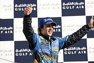 Podium - Formel 1 2005, Bahrain GP, Sakhir, Bild: Renault