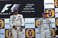Podium - Formel 1 2005, Großbritannien GP, Silverstone, Bild: Sutton