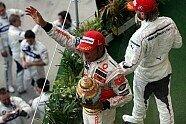 Podium - Formel 1 2007, Ungarn GP, Budapest, Bild: Sutton