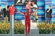 Podium - Formel 1 2008, Brasilien GP, São Paulo, Bild: Sutton