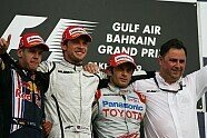 Podium - Formel 1 2009, Bahrain GP, Sakhir, Bild: Sutton