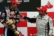 Podium - Formel 1 2009, Großbritannien GP, Silverstone, Bild: Sutton