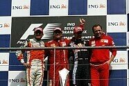Podium - Formel 1 2009, Belgien GP, Spa-Francorchamps, Bild: Sutton