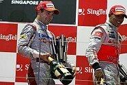 Podium - Formel 1 2009, Singapur GP, Singapur, Bild: Sutton