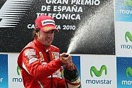 Podium - Formel 1 2010, Spanien GP, Barcelona, Bild: Sutton