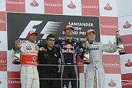 Podium - Formel 1 2010, Großbritannien GP, Silverstone, Bild: Bridgestone