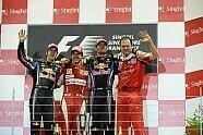 Podium - Formel 1 2010, Singapur GP, Singapur, Bild: Bridgestone
