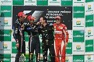 Podium - Formel 1 2010, Brasilien GP, São Paulo, Bild: Bridgestone