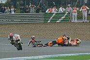 Rossi-Stoner-Sturz - MotoGP 2011, Spanien GP, Jerez de la Frontera, Bild: Milagro