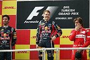 Podium - Formel 1 2011, Türkei GP, Istanbul, Bild: Sutton