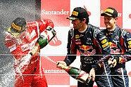 Podium - Formel 1 2011, Großbritannien GP, Silverstone, Bild: Red Bull